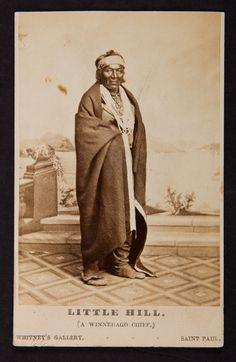 Little Hill, leader - Winnebago Nation - 1862