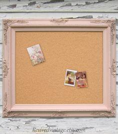 peach framed corkboard chalkboard dry erase board magnet board 31x27 chalk board corkboard
