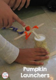 STEM Challenge: Build a Pumpkin Launcher! The idea with this one is to build a…