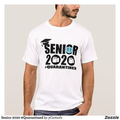 Shop Senior 2020 T-Shirt created by Personalize it with photos & text or purchase as is! Popular Mens Clothing, Blue Face Mask, Graduation Shirts, Cap And Gown, Quality T Shirts, White Shop, Fitness Models, Mens Fashion, Casual