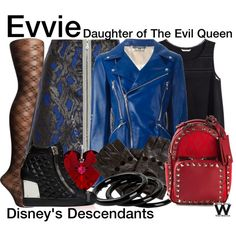 Disney's Descendants by wearwhatyouwatch on Polyvore featuring H&M, Alexander McQueen, Markus Lupfer, SPANX, Giuseppe Zanotti, Valentino, Furla, television and wearwhatyouwatch