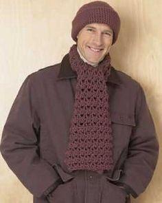 Men's Hat and Scarf Set: free pattern