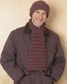 Men's Hat and Scarf Set: free pattern