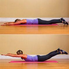 Five-Minute Back Workout | POPSUGAR Fitness