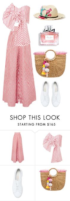 """ortiz"" by thestyleartisan ❤ liked on Polyvore featuring Johanna Ortiz, Common Projects, JADEtribe, Christian Dior, Kate Spade and basketbags"