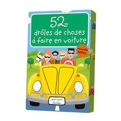 """La destination n'a plus d'importance, seul compte le voyage, si tu penses à glisser dans la boîte à gants ces 52 jeux et activités pour les voyages en voiture, qu'ils soient longs ou courts. Il y en a pour tout les goûts : jeux de déduction, jeux créatifs, virelangues et charades. Oubliés, les """"C'est quand qu'on arrive"""