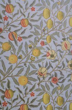 William Morris: Fruit wallpaper 1866.  POUL WEBB ART BLOG: William Morris wallpaper & textiles
