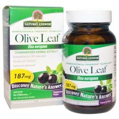 Nature's Answer, Olive Leaf, Standardized Herbal Extract, 187 Mg, 60 Veggie Caps, Diet Suplements 蛇