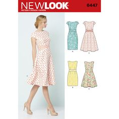 New Look Pattern 6447 Misses' Dresses, 4-H STEAM Level 2, year 2