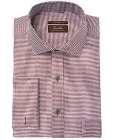 Tasso Elba Men's Regular Fit Non-Iron French Cuff Dress Shirt, Created for Macy's - Gray 15.5 32/33