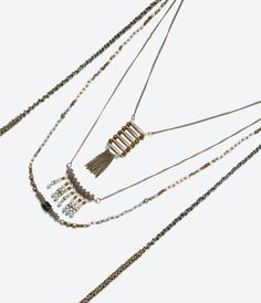 ZARA - NEW THIS WEEK - FRINGED CHAIN NECKLACE