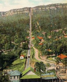 The historic incline railroad in St. Elmo and Lookout Mountain #chattanooga