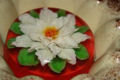 Gelatin Poinsettia by The Jello Lady, via Flickr