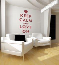 Wall Decal. Keep calm and love on. #keep_calm #sticker #decal