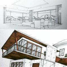 """Up there. It's the """"Master Bedroom"""".🛌🌄 #masterbedroom #sketch #handdrawing #perspective #archsketcher #interiorsketch #architecture #interiordesign #interior #design #arquitetapage #arquisemteta #papodearquiteto #iarchitectures #archihub #flarchitect #bestsketch #architect_need #arch_more #ar_sketch #arch_sketcher #arquinews #mastersketch #arqsketch #tamainteriordesign #tamasketch"""