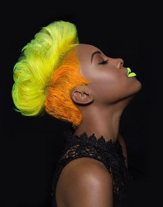 Awesome tutorials on how to create these vibrant looks with #Pravana #Chromasilk #Neons collection. #Yellowhair