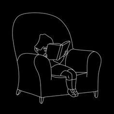 Gluyas Williams, Portrait of a small boy reading on ArtStack #gluyas-williams #art