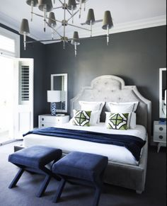 Bedroom Decor Blue And White