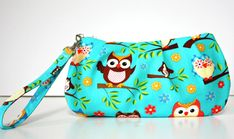 Sweet Pea Zip and Go Owl WRISTLET by SweetPeaTotes on Etsy, $25.00
