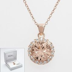 Rose gold necklace - jewelry womens necklace ring - http://amzn.to/2hR83wC