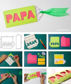 Tarjeta Día del padre | Manualidades Cd Crafts, Cardboard Crafts, Arts And Crafts, Educational Activities, Craft Activities, Learning Tips, Diy Paper, Gifts For Dad, Fathers Day