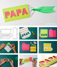 Tarjeta Día del padre | Manualidades