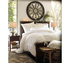 Lovely site packed with DIY knock-offs of high-end stores like Restoration home design room design interior design house design design Dream Bedroom, Home Bedroom, Modern Bedroom, Master Bedroom, Bedroom Decor, Bedroom Furniture, Dark Furniture, Furniture Ideas, Bedroom Ideas