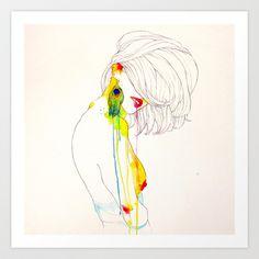 PAVO REAL Art Print by Conrad Roset - $19.00