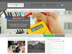 UK electrical contractors website design. #webdesign #websites #electrician