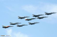 "South African Air Force Atlas Cheetah C/D formation flypast during the ""SAAF Birthday"" celebrations South African Air Force, Air Force Aircraft, Military Aircraft, Armed Forces, Fighter Jets, Cool Photos, Aviation, Cheetahs, Birthday Celebrations"