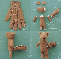 Instructions for glove to lovey. Amy, this seems to scream your name!