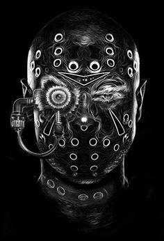 la série «Fantasmagorik«, le graphic designer français Nicolas Obery
