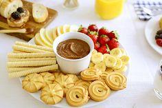 Homemade Nutella fondue breakfast - Desayuno con fondue de Nutella casera