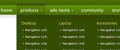 45 jQuery Navigation Plugins and Tutorials Web Design, Navigation Bar, Mega Menu, Tutorials, Google, Free, Design Web, Website Designs, Site Design