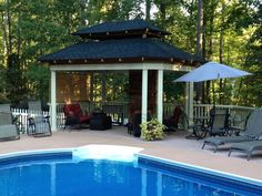 14 Great Gazebos --> http://www.hgtvgardens.com/hardscaping/14-gazebos-for-patios-pools-and-gardens?s=2&soc=pinterest