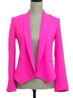 Pink Blazer Jacket - Trendy Clothes