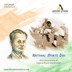 Wishing You Very Happy National Sports Day and tributes to Hockey Legend Major Dhyan Chand! Sports Day Poster, Dhyan Chand, P V Sindhu, National Sports Day, India Quotes, India Poster, Peacock Pictures, Wallpaper Images Hd, Ganesha Painting