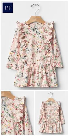Floral ruffle dress- The colors and print is nice for Honour