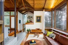 Enter the split-level house with soaring windows, sweeping ceilings and lofty spaces that was the personal residence of an architect who contributed to the design of the Eugene Airport. Architect Robert Mention's custom midcentury modern dwelling, perched on a forest-like lot, just landed on the market Monday. It's listed for $480,000.