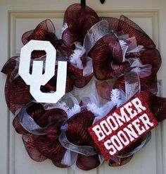OU Boomer Sooner Mesh Wreath