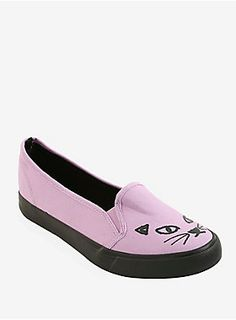 Lavender Cat Slip-Ons | Hot Topic