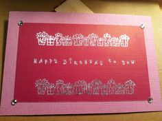 Happy Birthday To You two sided card on Etsy, $3.00