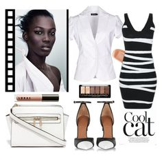 """""""Simple elegant"""" by camilika ❤ liked on Polyvore featuring AMY GEE, Givenchy, AERIN, LORAC, white and black"""