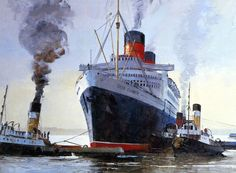RMS Queen Elizabeth by Harley Crossley
