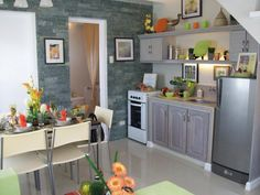 Camella Homes Interior Design Kitchen ~ Inspiring Home Design Ideas Simple Kitchen Design, Kitchen Room Design, Contemporary Kitchen Design, Home Decor Kitchen, Interior Design Kitchen, Interior Ideas, Kitchen Ideas, Minimalist House Design, Small House Design