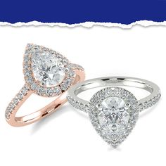 Halo Collection, Pear Diamond, Halo Diamond Engagement Ring, Rings Online, Diamond Shapes, Heart Ring, Diamonds, Shop, Jewelry