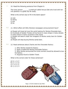 charlie and the chocolate factory essay Charlie and the chocolate factory movie & book contest responses in july 2005, teachingbooks invited customers to enter a charlie and the chocolate.