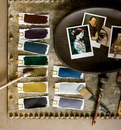interior paint ideas, dark and light tend palette