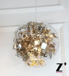 246.49$  Watch here - http://alivx6.worldwells.pw/go.php?t=32338117149 - The Globe glass stainless light of wednesday Modern Pendant Light  led lights E27 leafs Heracleum  tree free shipping 246.49$