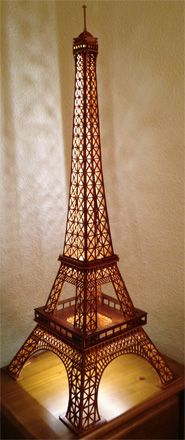 5 000 Popsicle Stick Eiffel Tower Tower Craft And